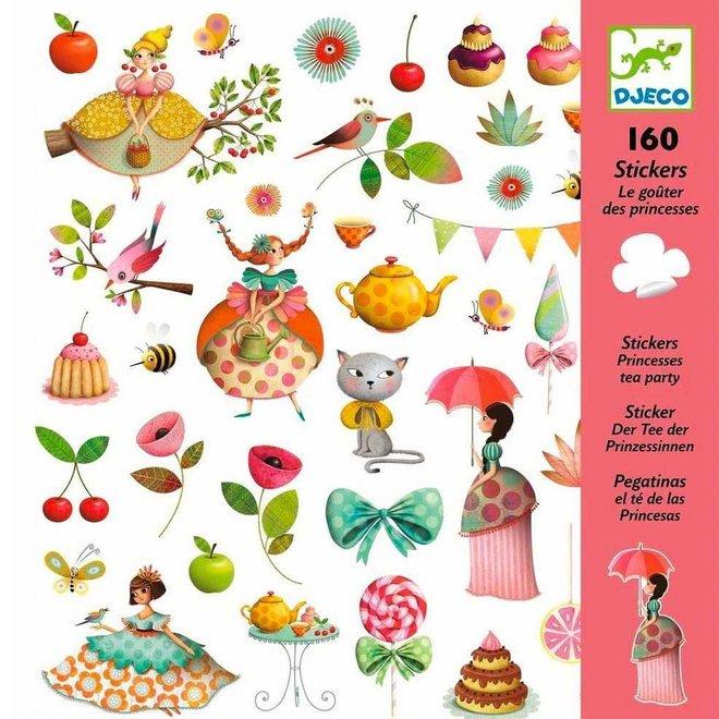 Stickers prinsessen thee partijtje