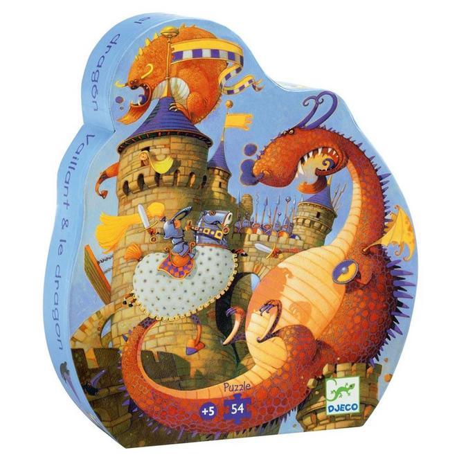 Puzzel - De held en de draak (54st) 5+