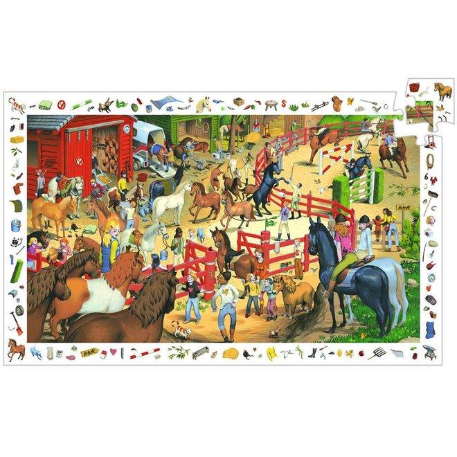 Djeco Puzzel 200 stukjes - Paarden