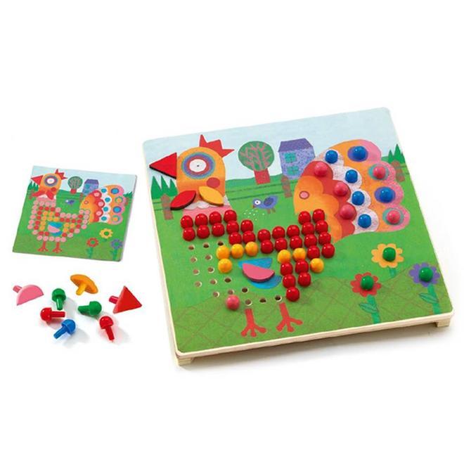 Mozaïek pinnen puzzels 3+