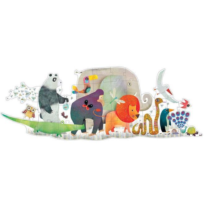 Vloerpuzzel dierenparade (36st) 3+
