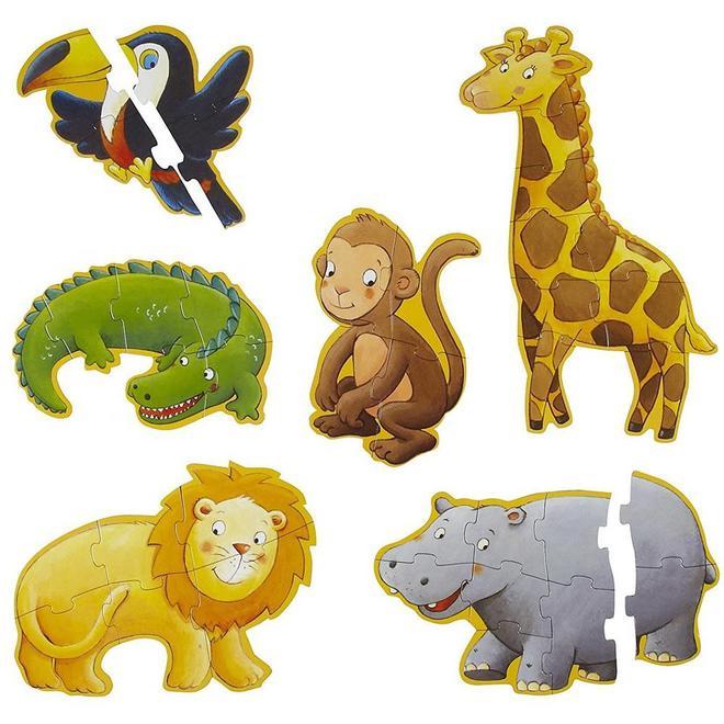 Vloerpuzzels jungle dieren 3+