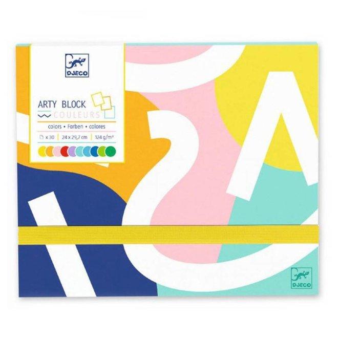 Bewaarmap met gekleurd papier