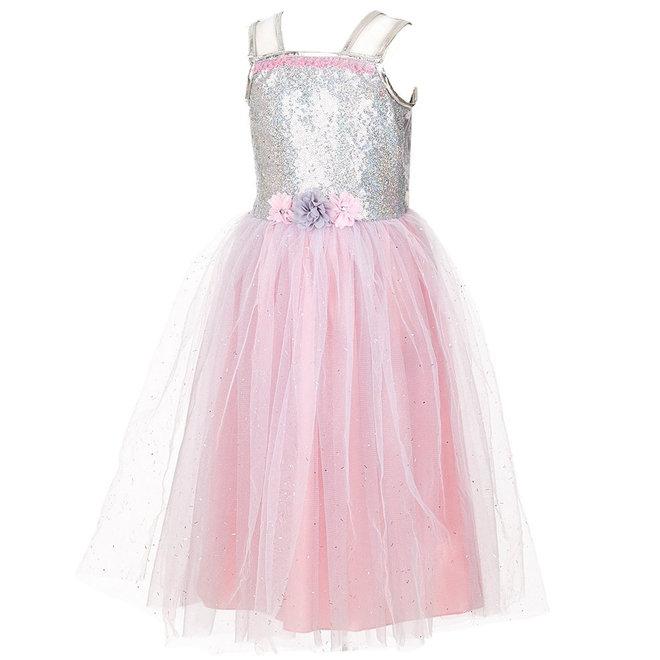 Féline jurk, licht grijs (3-4 jaar)