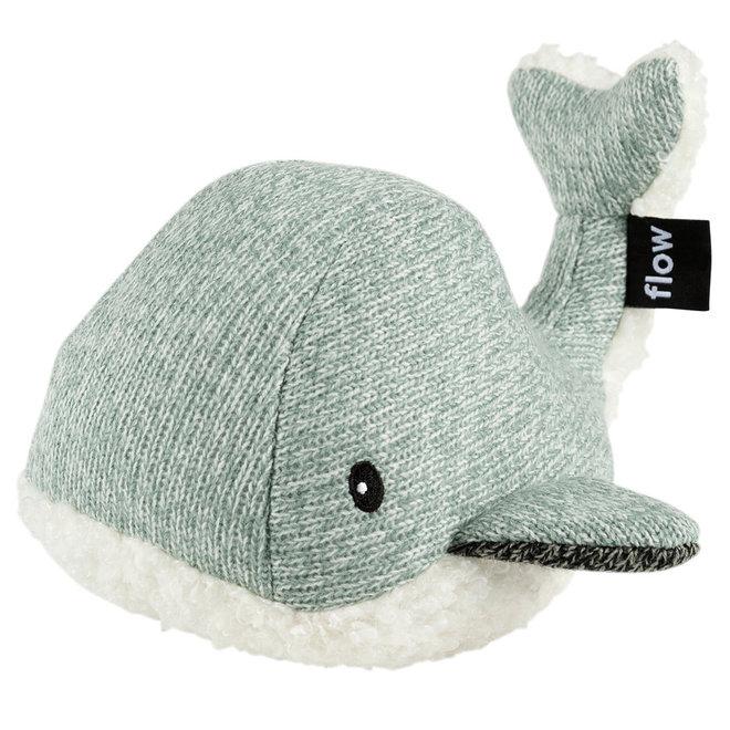 Knuffel met hartslag - Moby de Walvis groen