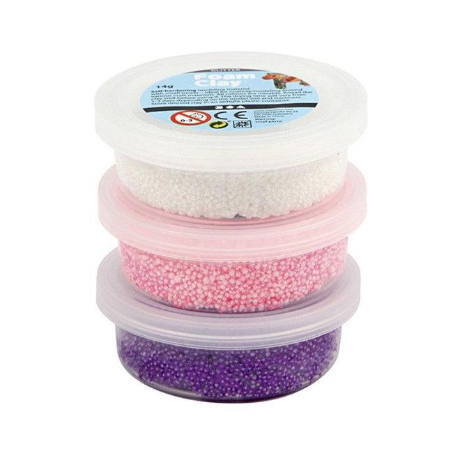 Foam Clay wit/roze/paars