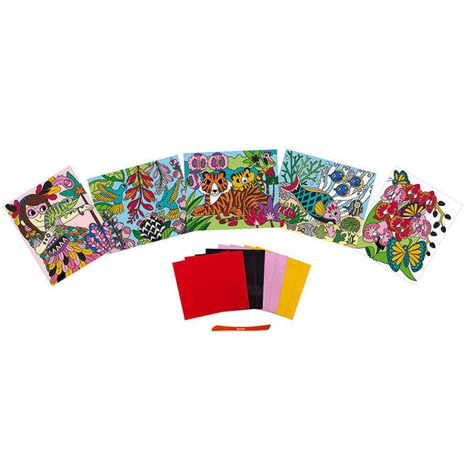 Janod Atelier - Fluweel kaarten knutselen (6-8 jaar)