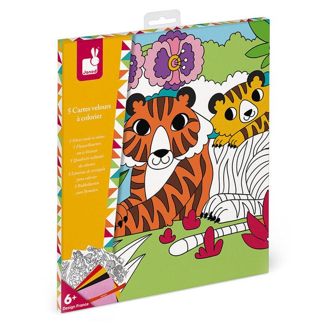 Knutselset fluweel kaarten maken (6-8 jaar)