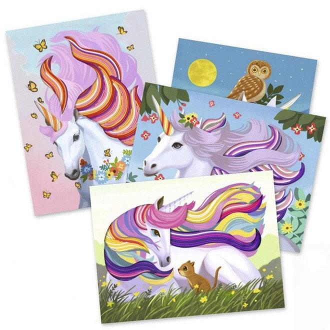 Scoubidou schilderijen eenhoorns (7-13 jaar)