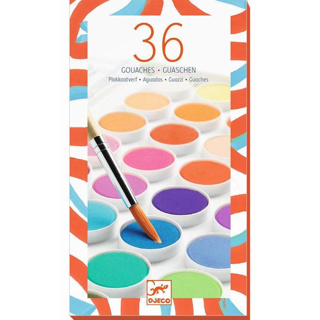 Waterverf set (36 kleuren)