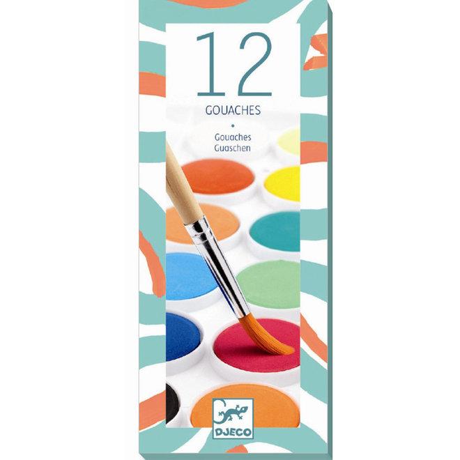 Waterverf set basis (12 kleuren)
