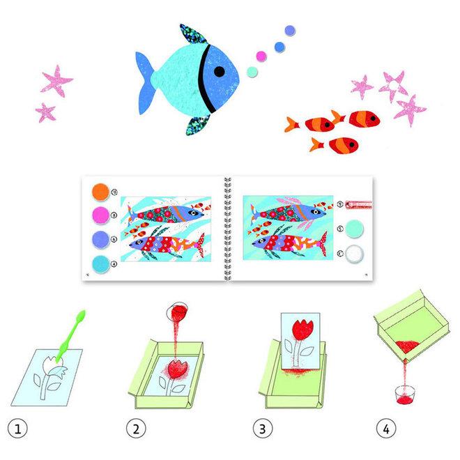 Djeco Zand en glitter - Vissen