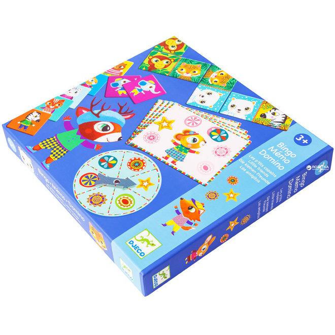 Djeco Bingo, memo & domino spel - Kleine vrienden