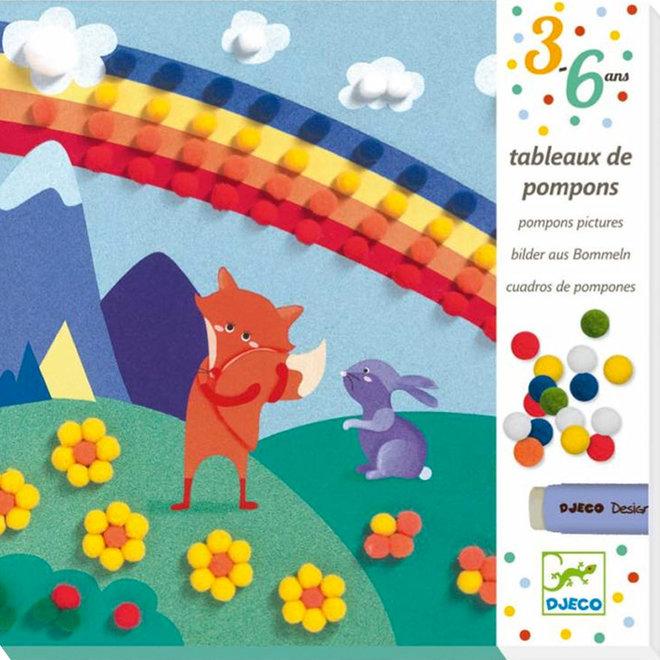 Pompon schilderijtjes - Droomwereld 3-6jr