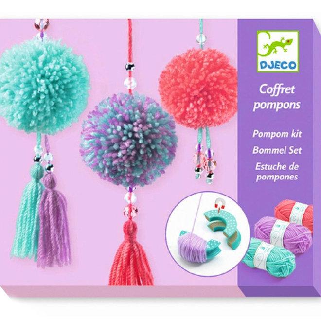 Pompon hangers maken