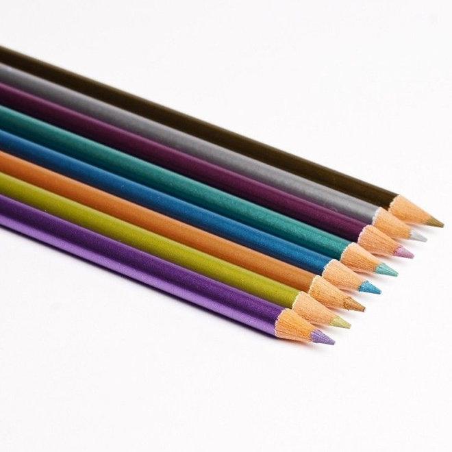 Kleurpotloden metallic (8st)