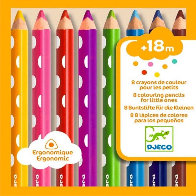 Kleurpotloden voor peuters (8st) 18m+