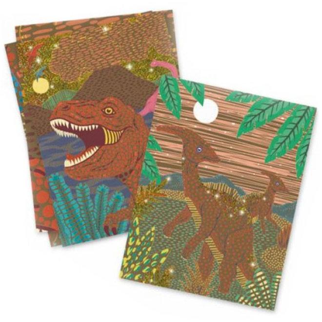 Kraskaarten - Dinosauriërs 6+