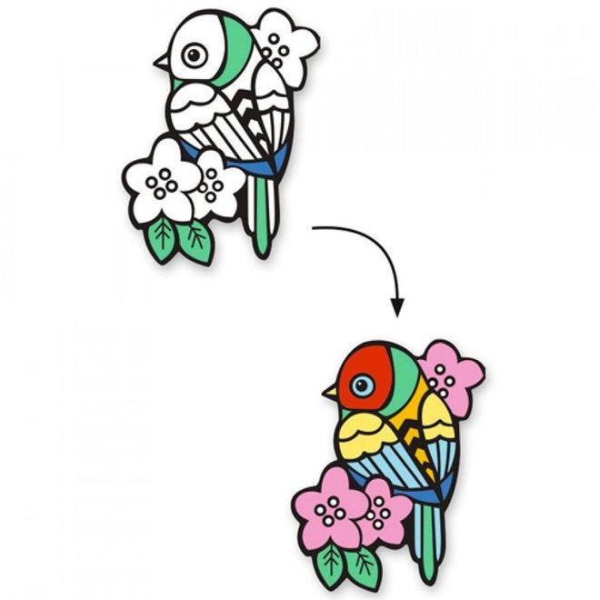 Djeco Fluwelen Kleurplaten Vogels