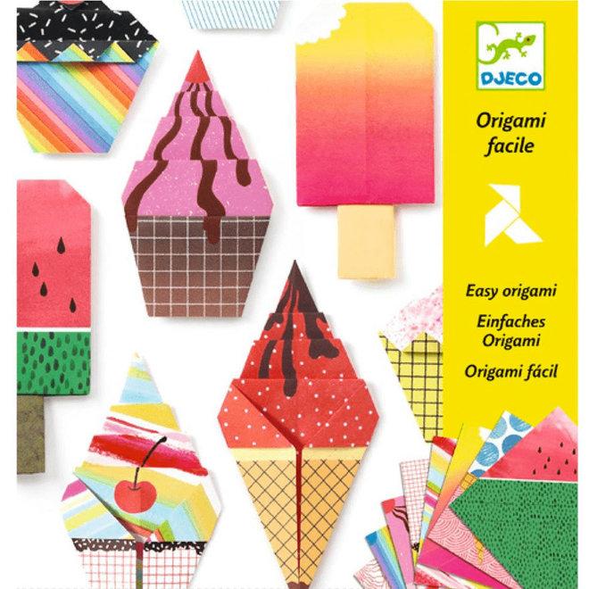 Origami ijsjes 5+