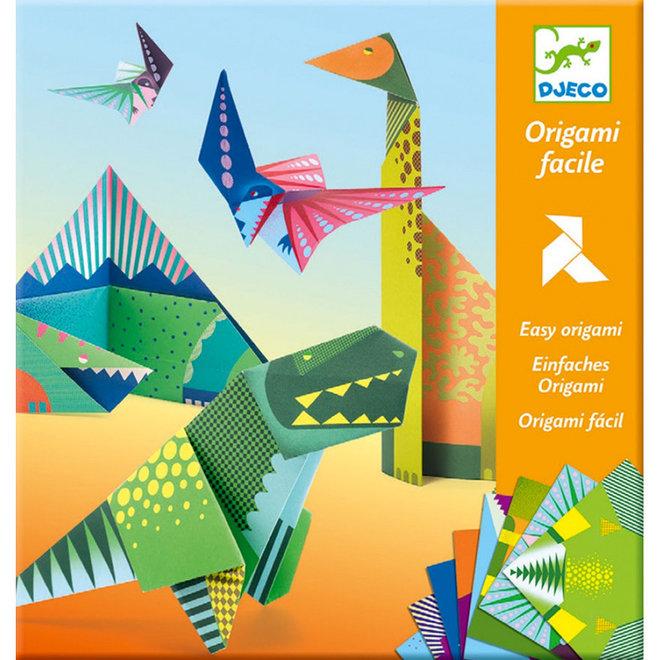 Origami dino's 6+