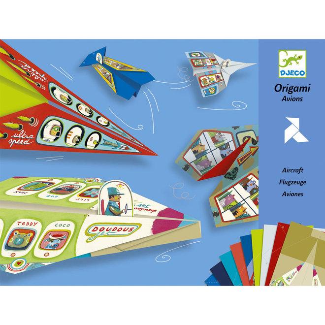 Origami vliegtuigen 7+