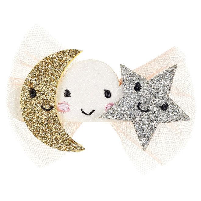 Haarclip maan & ster Clara