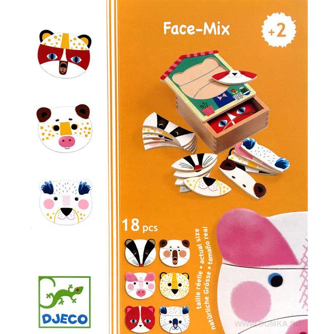 Djeco Houten Puzzel Gezichten 'Face Mix'