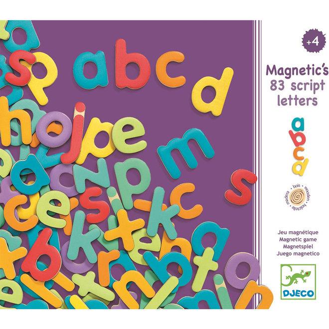 Lettermagneten kleine letters (83st) 4+