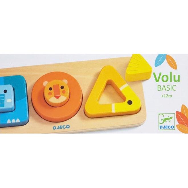 Djeco Puzzel geo-vormen VoluBasic 1+