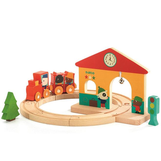 Djeco Houten mini trein 18m+