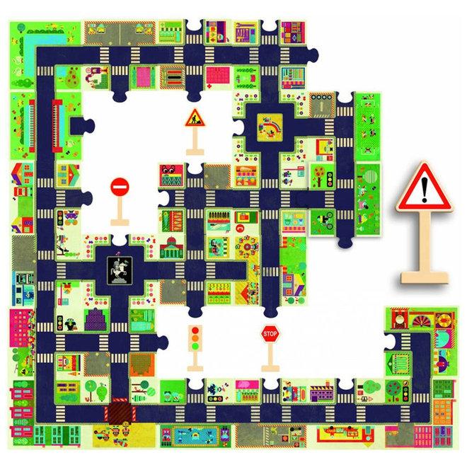 Djeco Vloerpuzzel - De Grote Stad