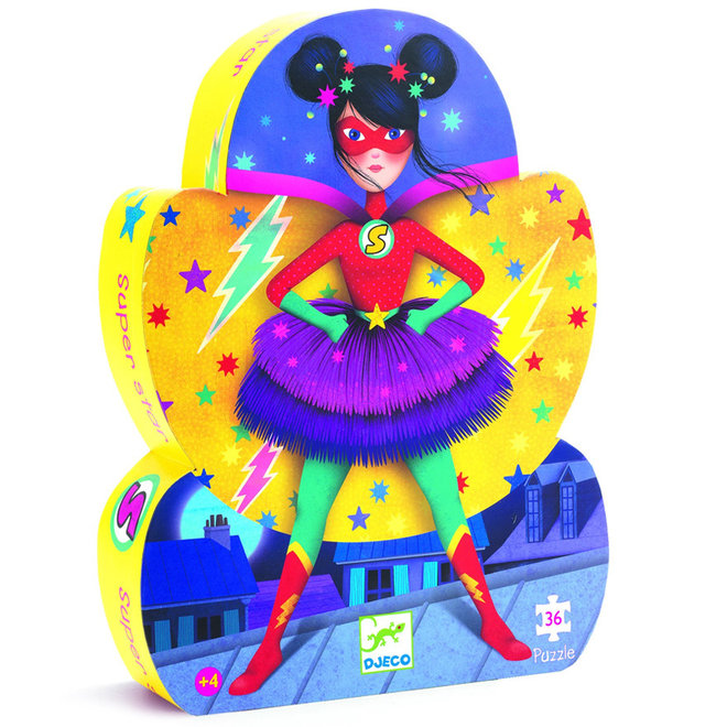Djeco Puzzel - Superheldin (36st) 4+