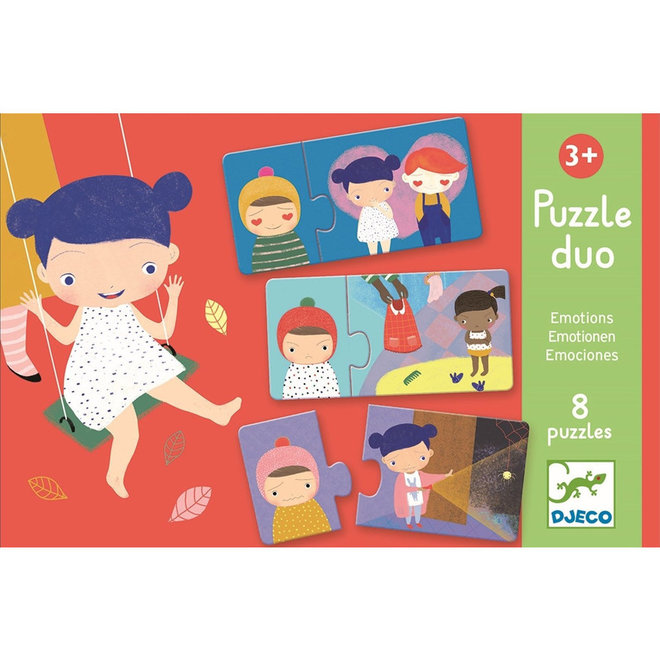 Djeco Puzzel duo - Emoties 3+