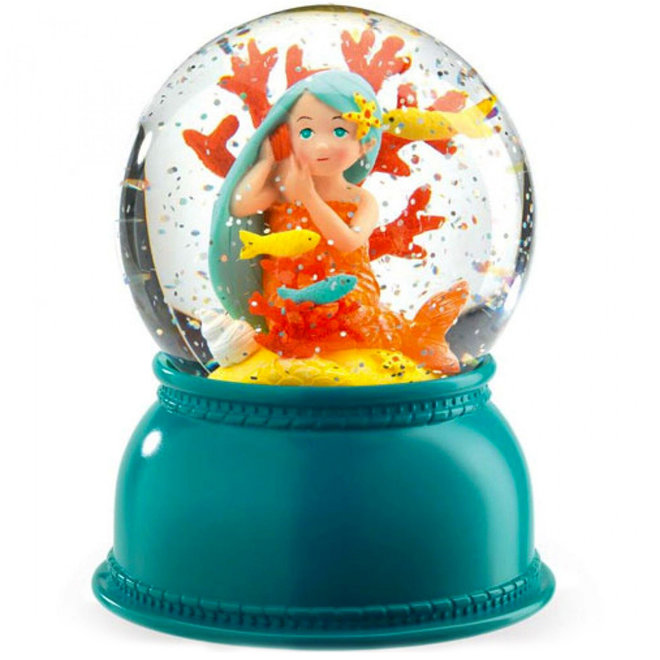 Nachtlamp sneeuwbol zeemeermin