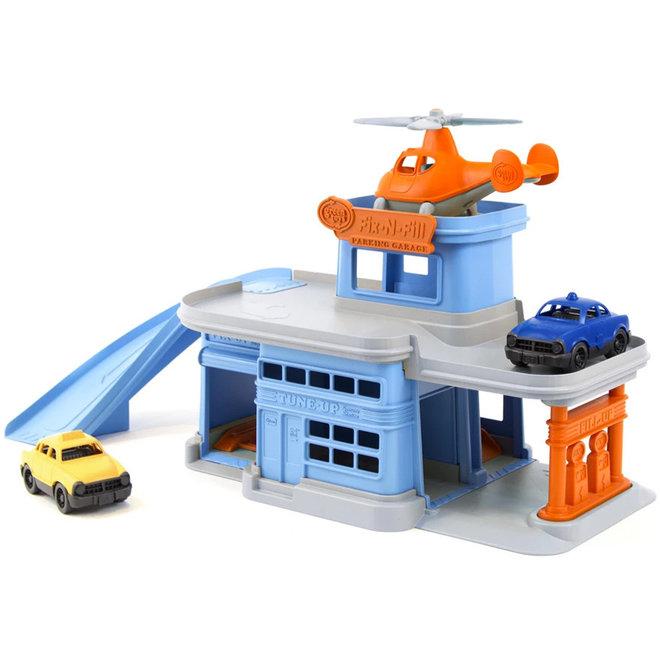 Garage met auto's & helicopter