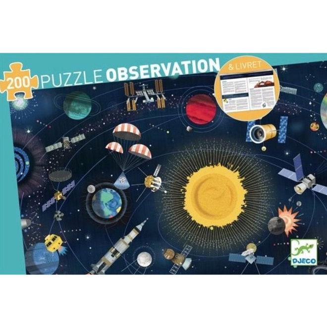 Djeco Puzzel 200 stukjes - De Ruimte