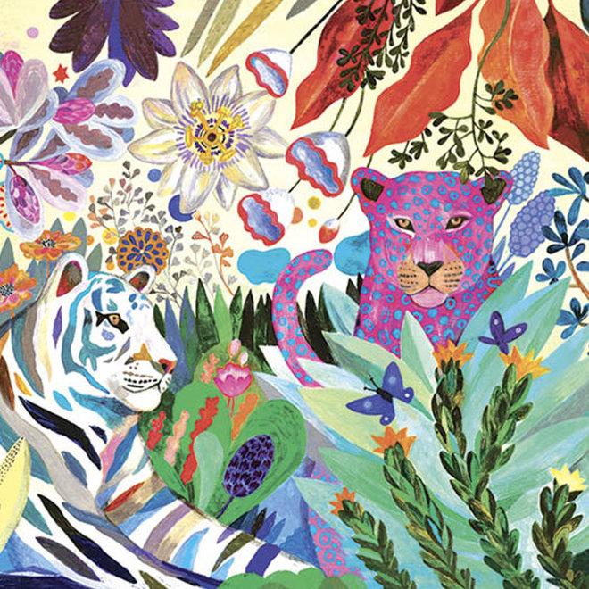 Djeco puzzel 1000 stukjes - Regenboog tijgers