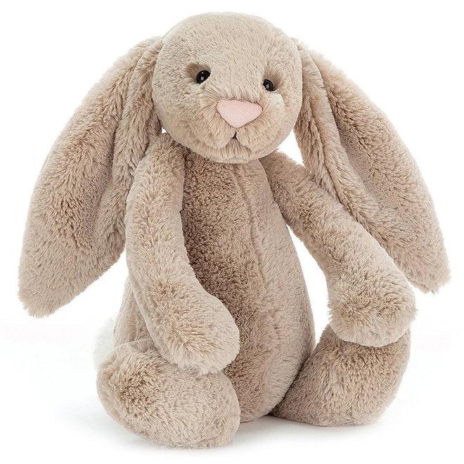 Knuffel beige konijn groot