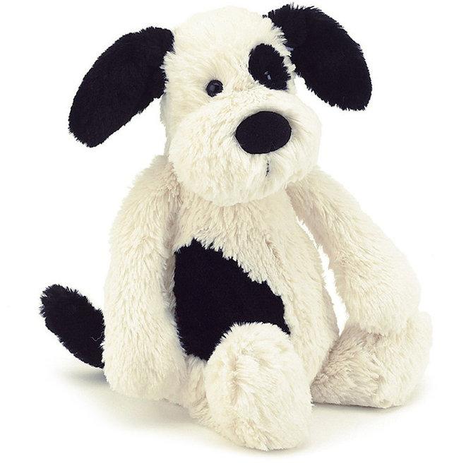 Knuffel hond zwart/wit