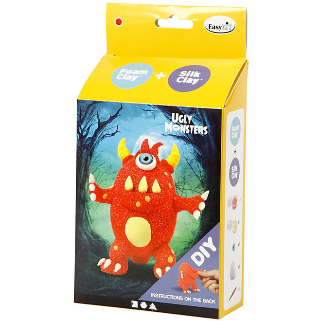 Silk & Foam Clay Ugly Monster rood