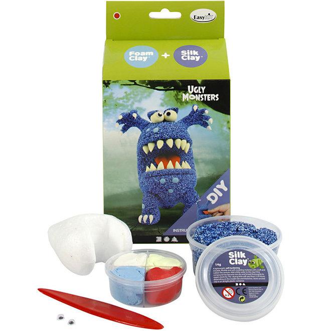 Silk & Foam Clay Ugly Monster blauw