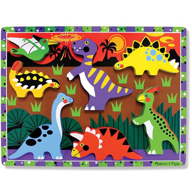 Chunky puzzel dinosaurussen