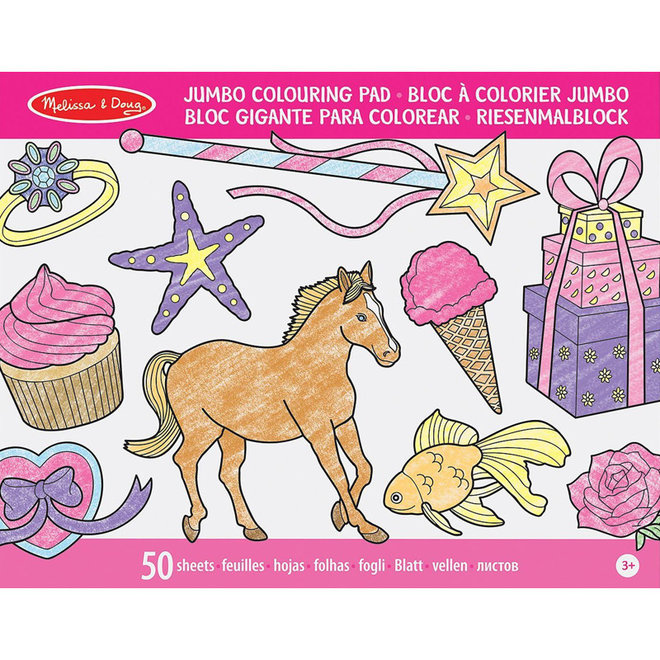 Jumbo kleurboek meisjes A3