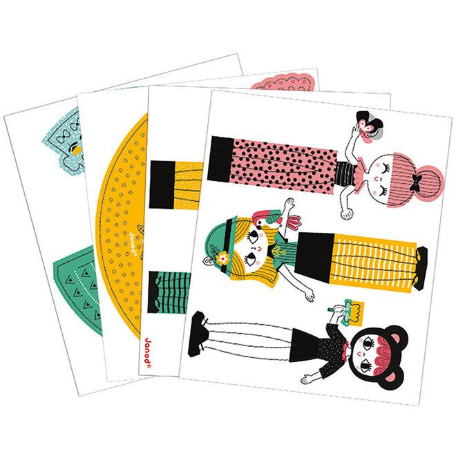 Janod Atelier - Vouwen dames jurken 6+