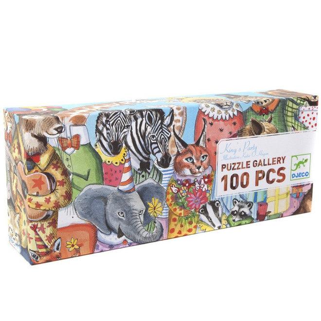 Djeco puzzel 100 stukjes - Feest van de koning