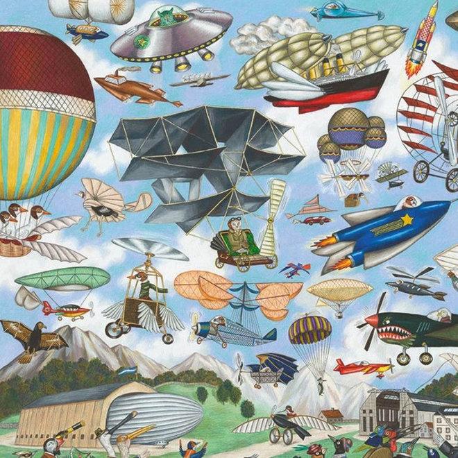 Djeco Puzzel 200 stukjes - Vliegtuigen