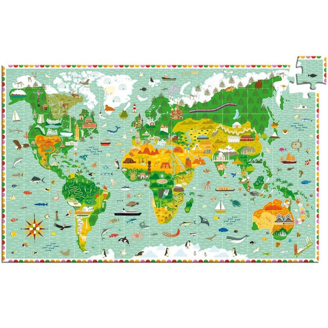 Puzzel 200 stukjes - Wereld 6+