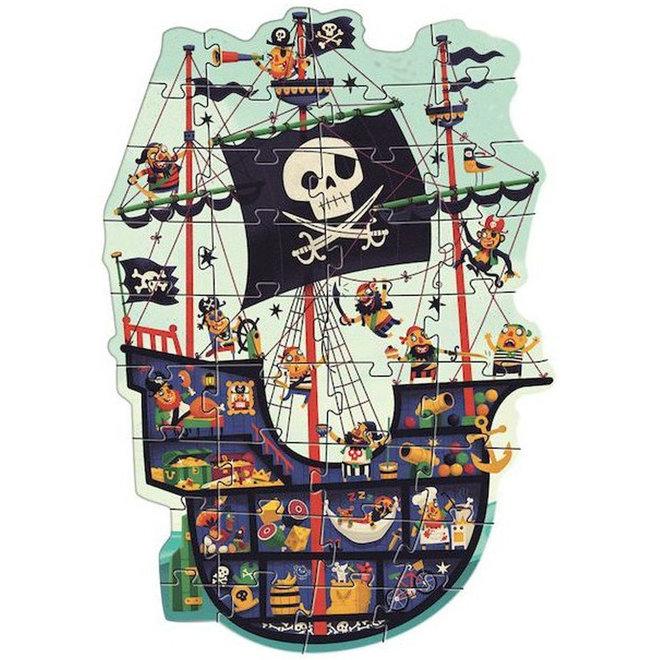 Vloerpuzzel piratenschip (36st) 4+