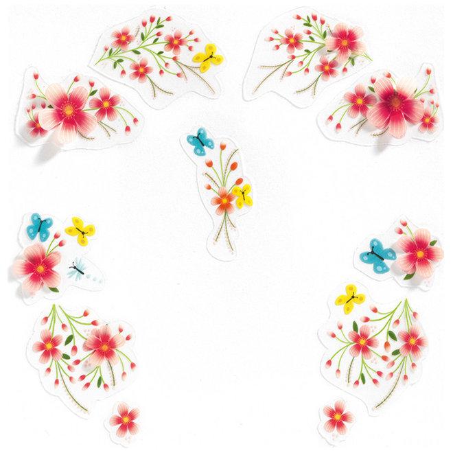Gezichtsstickers Bloemenfee